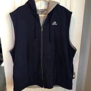 Adidas vintage 90's reversible vest hoodie XXL